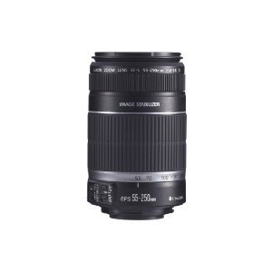 Canon EF-S 55-250mm f/4.0-5.6 IS Telephoto Zoom レンズ for Canon デジタル SLR Cameras with レンズ Cleaning キット (海外取寄せ品)