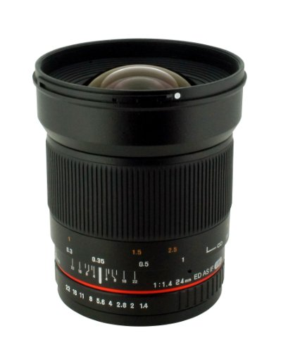 Rokinon 24mm F/1.4 Aspherical ワイド Angle レンズ for Nikon with オートマチック AE チップ for オート アパーチャー, オート Exposure and フォーカス Confirmation RK24MAF-N (海外取寄せ品)