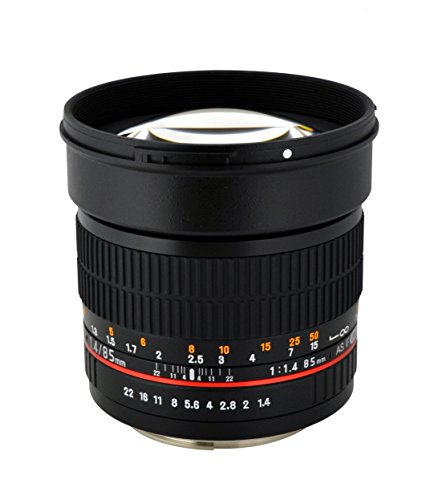 Rokinon AE85M-C 85mm F1.4 Aspherical レンズ With Built in AE チップ for キャノン Canon DSLR Cameras (Black) (海外取寄せ品)