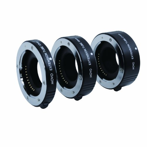 Movo Photo AF Macro エクステンション チューブ セット for Micro 4/3 Mount Mirrorless Camera System (Compatible with Olympus ペン, Panasonic Lumix, Blackmagic シネマ Camera) with 10mm, 16mm & 21mm チューブ (海外取寄せ品)