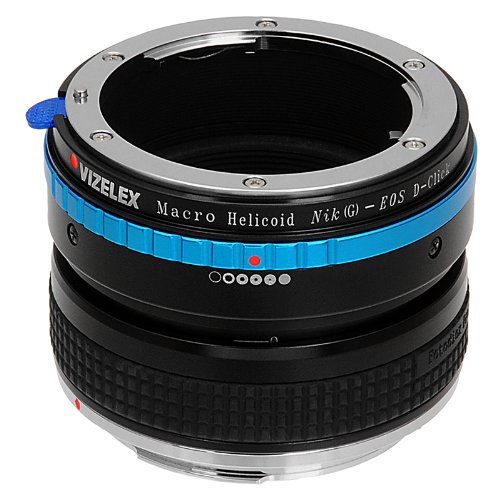 Vizelex Macro Focusing Helicoid for Nikon G and DX Lenses to キャノン Canon EOS DSLR Camera Body - Variable Magnification Helicoil with ビルトイン, De-Clicked アパーチャー ダイヤル for Nikon G and DX type レンズ (海外取寄せ品)