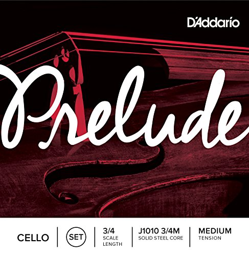 D'Addario Prelude Cello ストリング セット, 3/4 Scale, Medium Tension (海外取寄せ品)