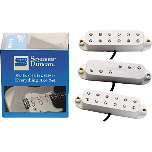 Seymour Duncan Everything アックス シングル-Coil Electric Guitar Pickup セット ホワイト (海外取寄せ品)