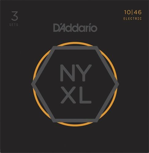 D'Addario NYXL1046 Nickel プレート Electric Guitar Strings, Medium, 3 セット (海外取寄せ品)