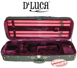 D'Luca CP03 Oblong Violin ケース ブルゴーニュ - 3/4 (海外取寄せ品)