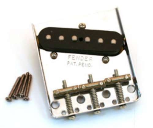 Fender 005-6069-000 アメリカン ヴィンテージ '62 Tele Custom ブリッジ Assembly with Pickup - Nickel (海外取寄せ品)