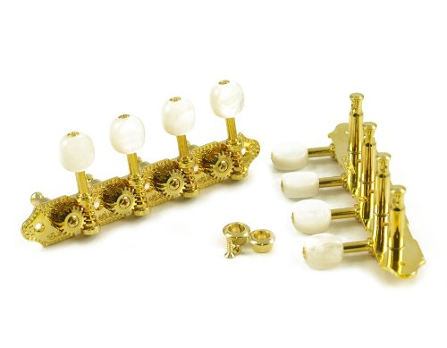 GROVERR DELUXE MANDOLIN TUNERS - A TYPE - 18:1 RATIO - ゴールド (海外取寄せ品)