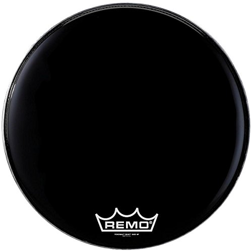 Remo Powermax Ebony Marching Bass Head 28 インチ (海外取寄せ品)