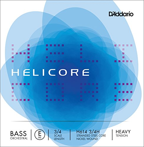 D'Addario Helicore Orchestral Bass シングル E ストリング, 3/4 Scale, Heavy Tension (海外取寄せ品)