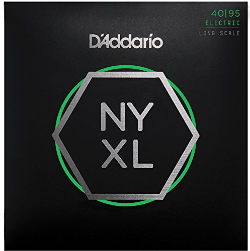 D'Addario NYXL4095 Nickel Wound Bass Guitar Strings, Super Light, 40-95, ロング Scale (海外取寄せ品)