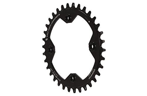 Wolf Tooth コンポーネント ドロップ-ストップ Chainring: 34T x 96 BCD Shimano Symmetric Cranks (海外取寄せ品)