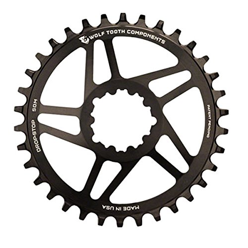 Wolf Tooth コンポーネント ダイレクト Mount ドロップ-ストップ 34t Chainring: for SRAM Mountain GXP Cranks with リムーバブル スパイダー (海外取寄せ品)