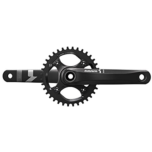 SRAM X1 1400 GXP ブラック Dm32T Crankset without Bottom Bracket, 175mm (海外取寄せ品)