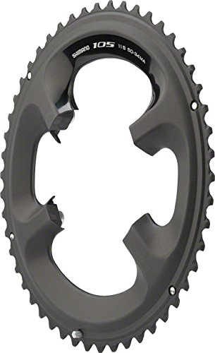 Shimano 105 5800-L 50T 130mm BCD 11-スピード ロード バイク Chainring For 50/34t ブラック (海外取寄せ品)