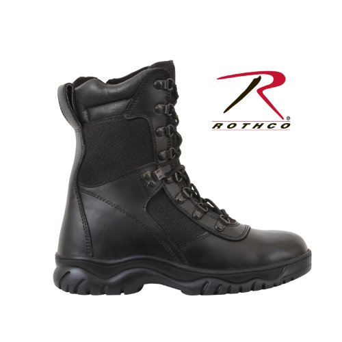 Rothco 8'' Forced Entry Side ジップ Tact ブーツ, ブラック, 10.5 (海外取寄せ品)