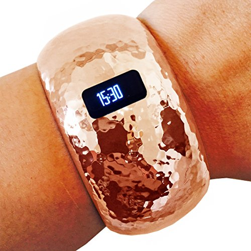Fitbit ブレスレット for Fitbit Charge or Charge HR フィットネス トラッカー - The BRIANNA INSIGHT ハマー Hinge バングル Fitbit ブレスレット (Charge HR ローズ Gold) 『海外取寄せ品』