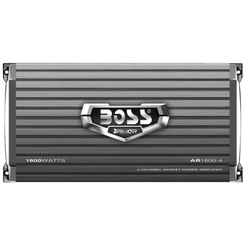 Boss アーマー AR1600.4 Car Amplifier - 160 W @ 4 Ohm - @ 2 Ohm1600 W PMPO - 4 Channel - クラス AB. 4-CHANNEL MOSFET AMPLIFIER 1600 ワット ピーク POWER AMREC. Bridgeable - 105 dB SNR - 0% THD - MOSFET Power サプライ (海外取寄せ品)