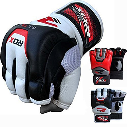 RDX カウ ハイド レザー MMA Grappling グローブ UFC Cage Fighting Sparring Glove Training T3 (海外取寄せ品)