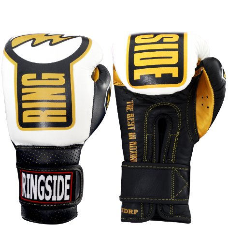 Ringside Youth セーフティー Sparring グローブ, ブラック/White, 10-Ounce (海外取寄せ品)