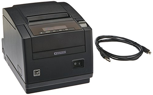Citizen アメリカ CT-S801S3UBUBKP CT-S801 Series POS Thermal Printer with PNE Sensor, Top Exit, 300 mm/Sec Printing スピード, USB Connection, ブラック 「汎用品」(海外取寄せ品)