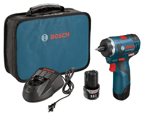 Bosch PS22-02 12-volt マックス Brushless ポケット ドライバー キット with 2.0Ah Batteries, Charger and ケース 「汎用品」(海外取寄せ品)