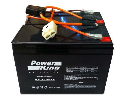 Razor 12 Volt 7Ah Electric Scooter Batteries ハイ パフォーマンス - セット of 2 インクルーズ New Wiring Harness フィット: Razor Ground Force Go Kart Beiter DC PowerR 「汎用品」(海外取寄せ品)
