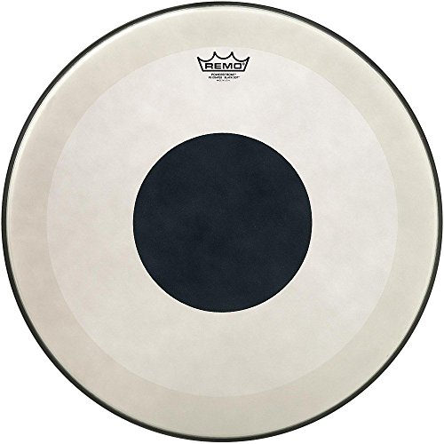 Remo Powerstroke 3 コー??ト Bass Drum Head with ブラック Dot 20 in. (海外取寄せ品)