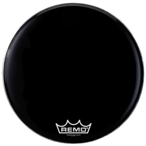 Remo PM2418-MP 18-インチ Bass Drum Heads, Ebony (海外取寄せ品)