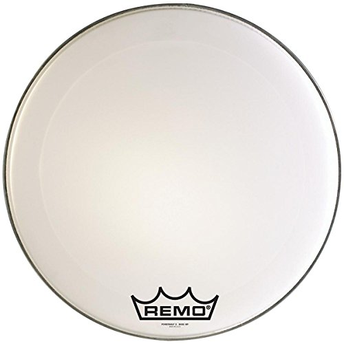 Remo PM2022-MP 22-インチ Bass Drum Heads, Ultra ホワイト (海外取寄せ品)