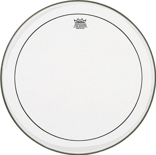 Remo PS1324-00 Clear ピンストライプ Bass Drum Head (24-Inch) (海外取寄せ品)