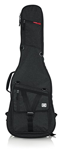 Gator ケース GT-ELECTRIC-BLK Transit Series Electric Guitar Gig Bag with ブラック Exterior, チャコール (海外取寄せ品)