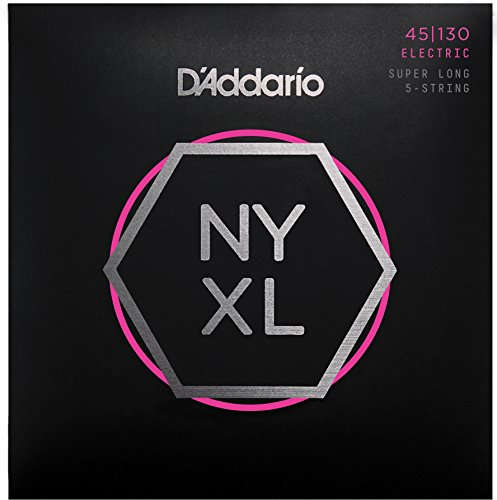 D'Addario NYXL45130SL Nickel Wound Bass Guitar Strings, レギュラー Light 5-String, Super ロング Scale (海外取寄せ品)
