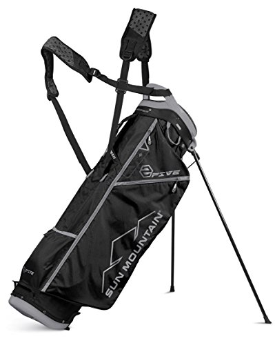 サン Mountain 2 Five Golf Stand Bag Carry Two 5 Lightweight 2017 ブラック New (海外取寄せ品)