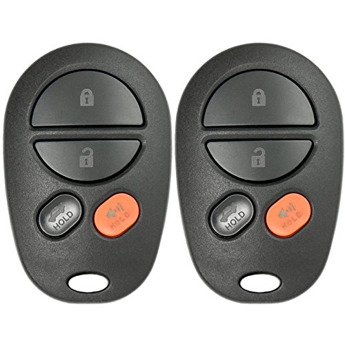 Keyless2Go New Keyless Entry Remote Car キー フォブ 4 ボタン リプレイスメント for FCC GQ43VT20T (2 Pack) 「汎用品」(海外取寄せ品)