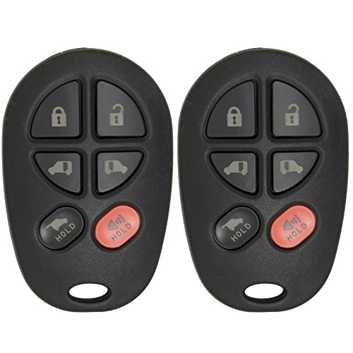 Keyless2Go New Keyless Entry Remote Car キー フォブ リプレイスメント for FCC GQ43VT20T (2 Pack) 「汎用品」(海外取寄せ品)