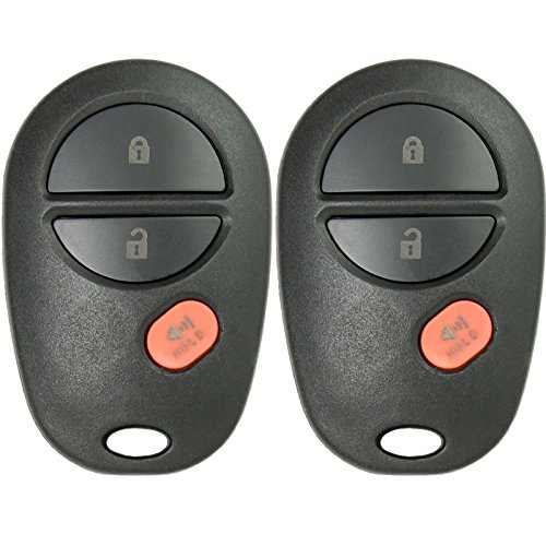 Keyless2Go New Keyless Entry Remote Car キー フォブ 3 ボタン リプレイスメント for FCC GQ43VT20T (2 Pack) 「汎用品」(海外取寄せ品)