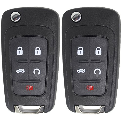 Keyless2Go New Keyless Remote 5 ボタン フリップ Car キー フォブ for Vehicles That Use FCC OHT01060512 (2 Pack) 「汎用品」(海外取寄せ品)