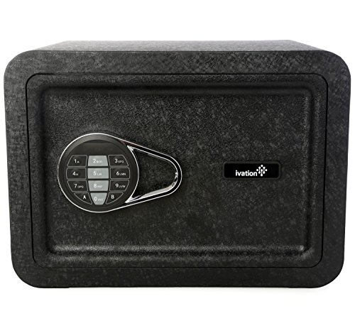Ivation エレクトロニック ホーム and Office Safe with Keypad for ピン コー??ド Access - インクルーズ Emergency Override Keys, ブラック 「汎用品」(海外取寄せ品)