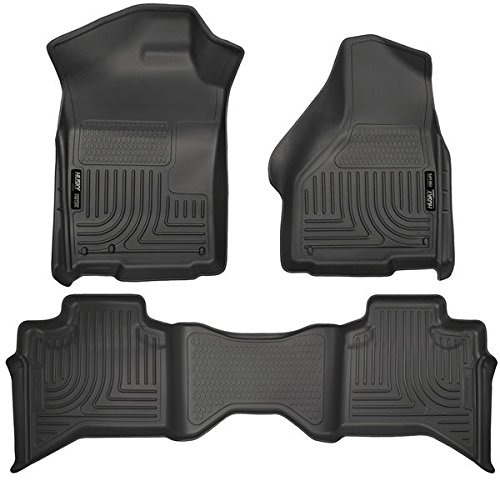 WeatherBeater フロアー Liners For - Dodge - Ram Pickup - 2009-2016 - ブラック - 1500 クワッド Cab, フロント and Rear Liners - 3 PCS 「汎用品」(海外取寄せ品)
