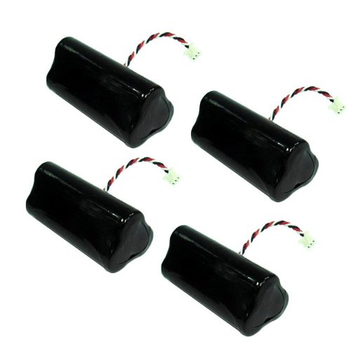 4 Batteries for Symbol BTRY-LS42RAAOE-01, 82-67705-01, LS4278 Barcode Scanners 「汎用品」(海外取寄せ品)
