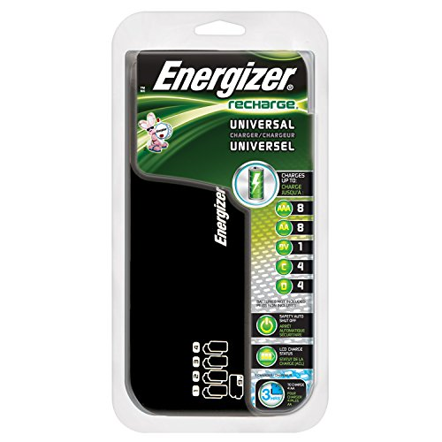 Energizer Recharge ユニバーサル Charger charges 8 AA/AAA, 4 C/D or 1 9V NiMH Batteries 「汎用品」(海外取寄せ品)