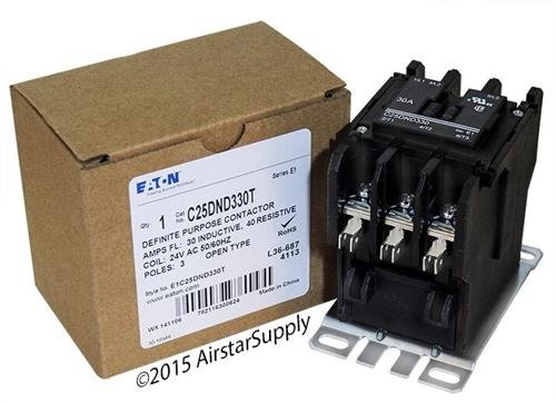 スクエア D 8910DPA33V14 - Replaced by Eaton / カトラー ハマー C25DND330T 50mm DP Contactor , 3-Pole , 30 Amp , 24 VAC Coil Voltage 「汎用品」(海外取寄せ品)