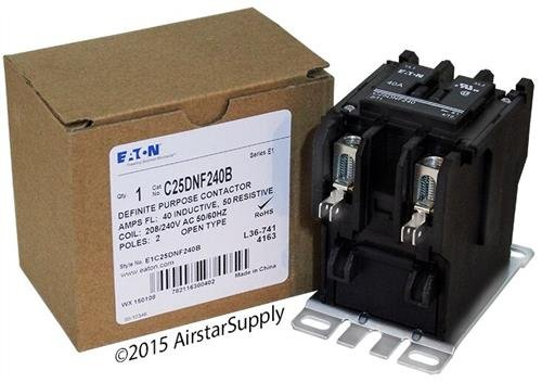 Tyco 3100Y20U10999 - Replaced by Eaton / カトラー ハマー C25DNF240B 50mm DP Contactor , 2-Pole , 40 Amp , 240 VAC Coil Voltage 「汎用品」(海外取寄せ品)