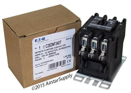 Siemens 42CF35AJBCE - Replaced by Eaton / カトラー ハマー C25DNF340T 50mm DP Contactor , 3-Pole , 40 Amp , 24 VAC Coil Voltage 「汎用品」(海外取寄せ品)