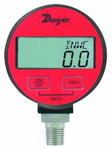 Dwyer DPGA Series デジタル Pressure ゲージ for エアー and Compatible Gases, レンジ 0 to 15 psig 「汎用品」(海外取寄せ品)