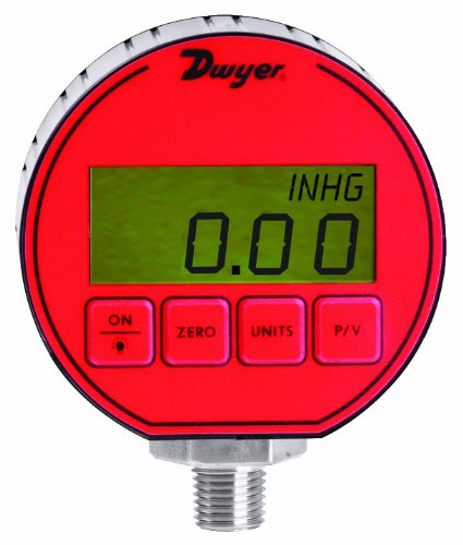 Dwyer DPG Series デジタル Pressure ゲージ, +/-0.5% Full Scale Accuracy, レンジ 0 to 500 psig 「汎用品」(海外取寄せ品)