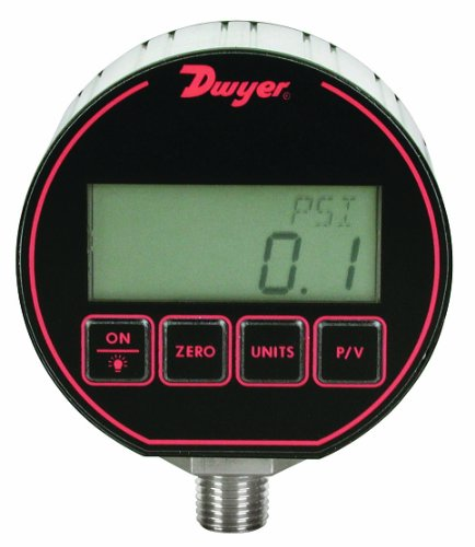 Dwyer DPG Series デジタル Pressure ゲージ, +/-0.25% Full Scale Accuracy, レンジ 0 to 50 psig 「汎用品」(海外取寄せ品)