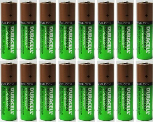 16 X NEW Duracell AA Batteries Rechargeable NiMH Precharged 2400mAh + FREE バッテリー HOLDER 「汎用品」(海外取寄せ品)