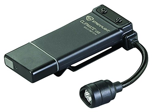 Streamlight 61125 ClipMate USB Rechargeable Clip-On Light with ブラック/ホワイト/レッド LED 「汎用品」(海外取寄せ品)