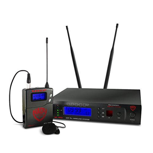 Nady W-1KU LT 1000 Channel UHF True Diversity Omni-Directional Lavalier Wireless Microphone System with Carrying ケース 「汎用品」(海外取寄せ品)
